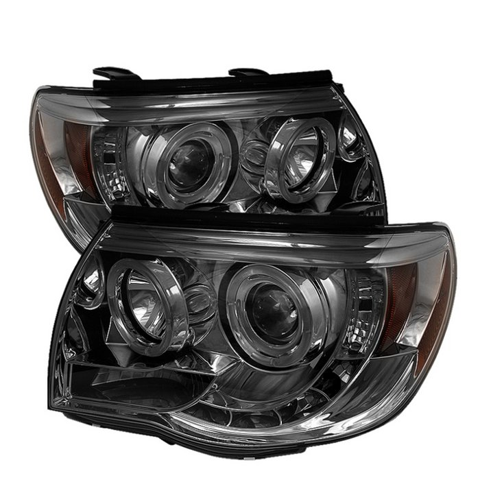 Toyota Tacoma  2005-2010 Halo LED Projector Headlights  - Smoke