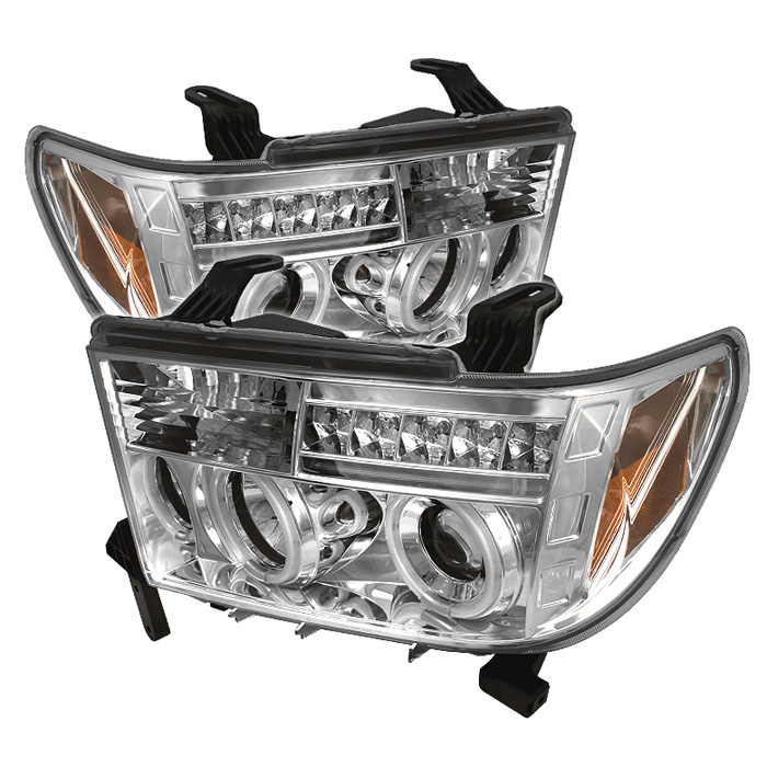Toyota Tundra  2007-2011 Ccfl LED Projector Headlights  - Chrome