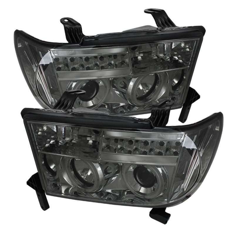 Toyota Tundra  2007-2011 Ccfl LED Projector Headlights  - Smoke