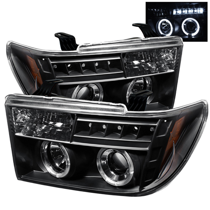 Toyota Sequoia  2008-2011 Halo LED Projector Headlights  - Black