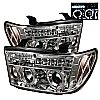 2010 Toyota Tundra   Halo LED Projector Headlights  - Chrome