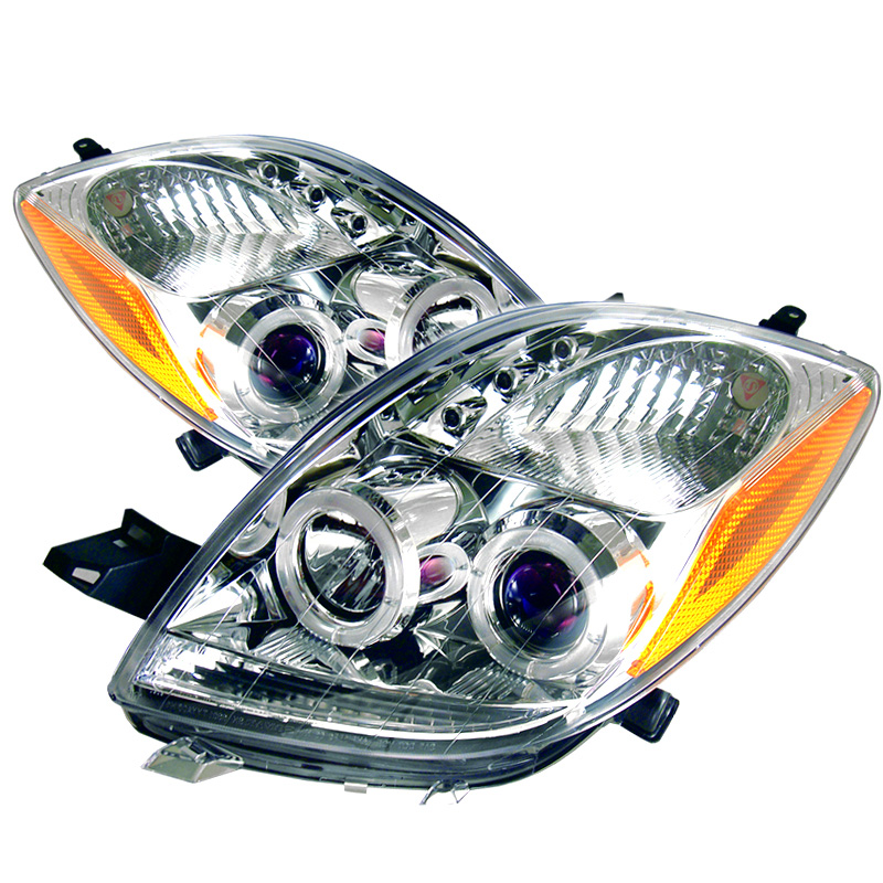 Toyota Yaris 2006-2008 2DR Chrome  Halo Projector Headlights