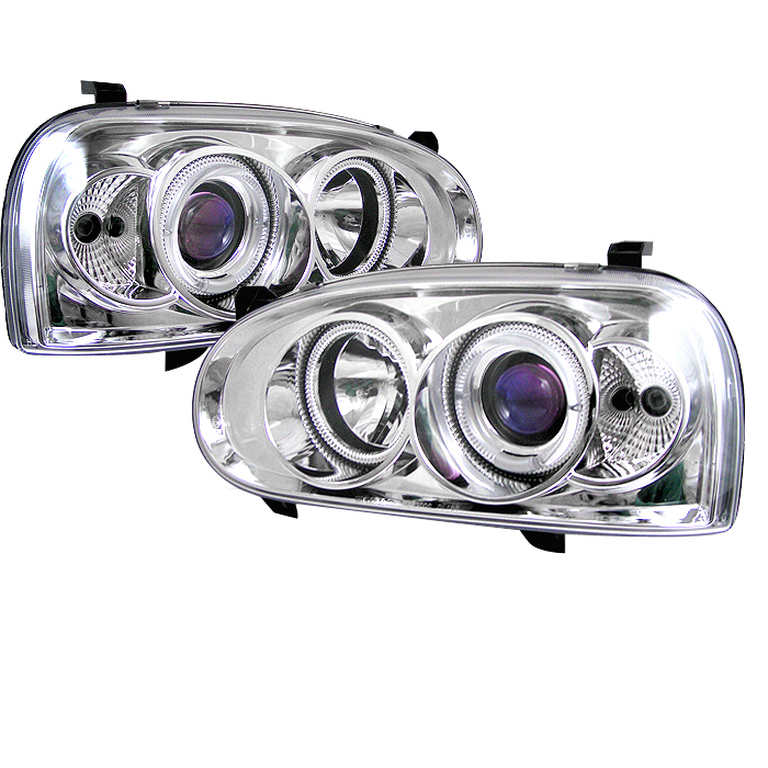 Volkswagen Golf 1993-1998  Chrome Halo Projector Headlights