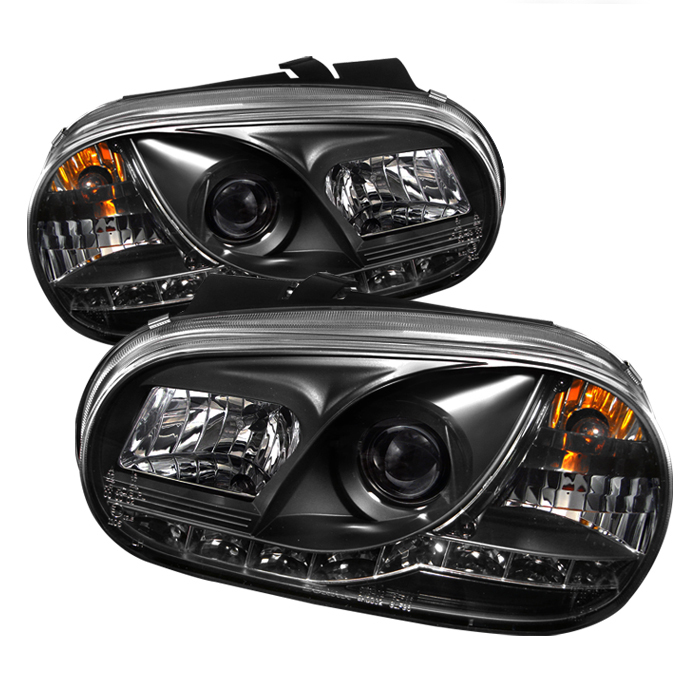 Volkswagen Golf 1999-2005  Black DRL LED Projector Headlights