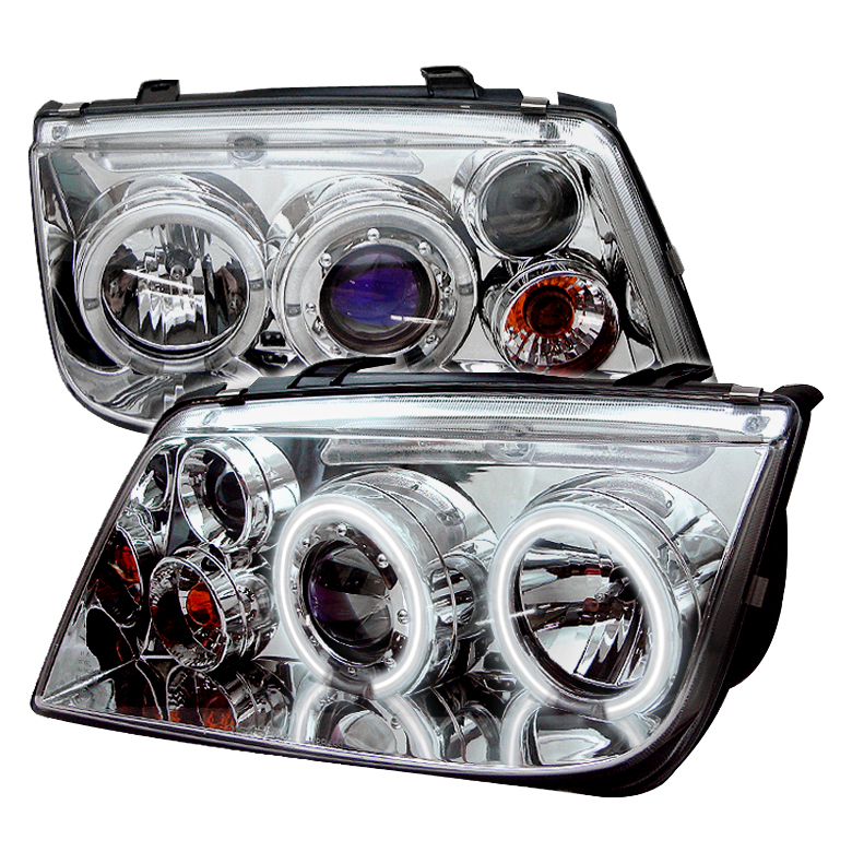 Volkswagen  Jetta 1999-2005  Chrome CCFL LED Projector Headlights