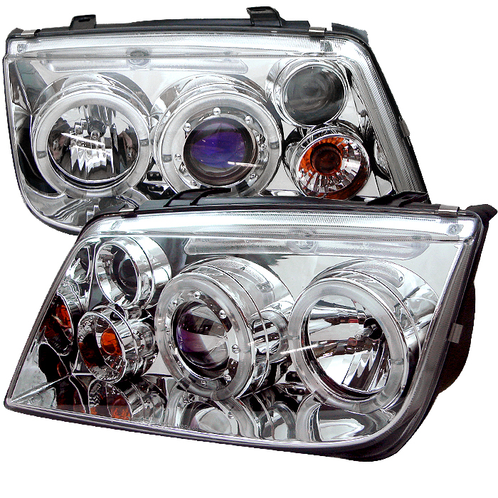 Volkswagen  Jetta 1999-2005  Chrome Halo LED Projector Headlights