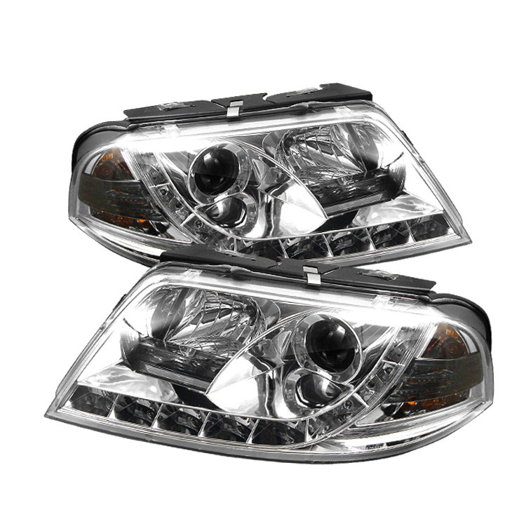 Volkswagen  Passat 2001-2005  Chrome  DRL LED Projector Headlights