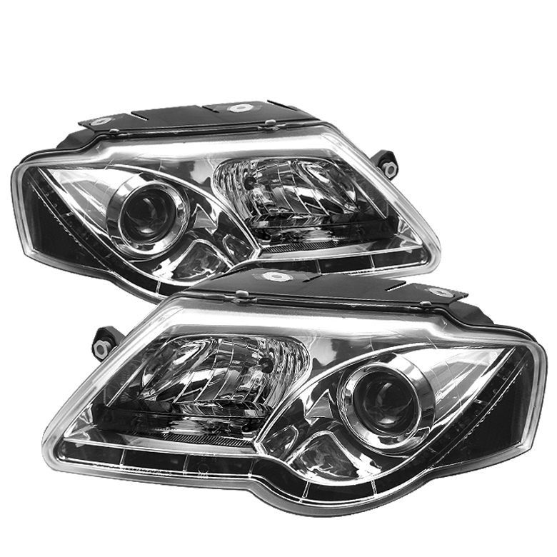 Volkswagen  Passat 2006-2008  Chrome  DRL LED Projector Headlights