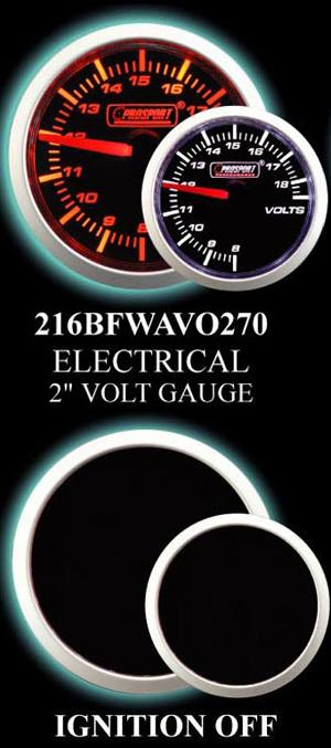Electrical 2 Inch Amber/White Voltmeter