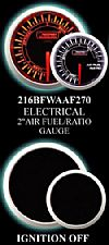 Electrical Analog 2 Inch Amber/White Air Fuel Ratio Gauge