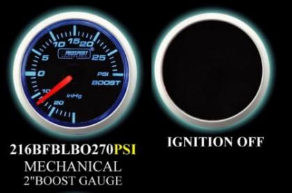 Mechanical -30 to +30 2 Inch Blue/White Boost Gauge