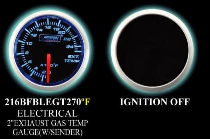 0-2500 Degree 2 Inch Blue/White Exhaust Gas Temperature Gauge