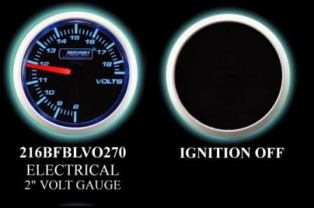 Electrical 2 Inch Blue/White Voltmeter