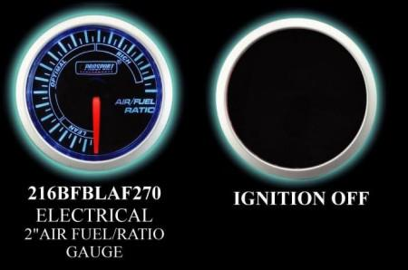 Electrical Analog 2 Inch Blue/White Air Fuel Ratio Gauge