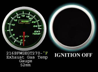 0-2500 Degree 2 Inch Green/White Exhaust Gas Temperature Gauge