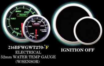 Electrical 110-320 Degree 2 Inch Green/White Water Temperature Gauge