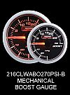 Mechanical -30 to +30 2 Inch Clear Lens Amber/White Boost Gauge