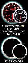 Electrical 0-110 PSI 2 Inch Amber/White Oil Pressure Gauge