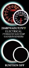 Electrical 100-320 Degree 2 Inch Amber/White Oil Temperature Gauge