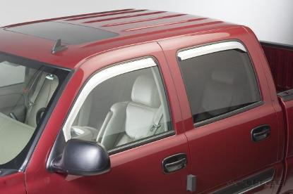 Dodge Dakota 4 Door 2005-2007 Chrome Vent Visors