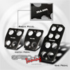 R1 Style Manual Racing Pedals Set (Black)