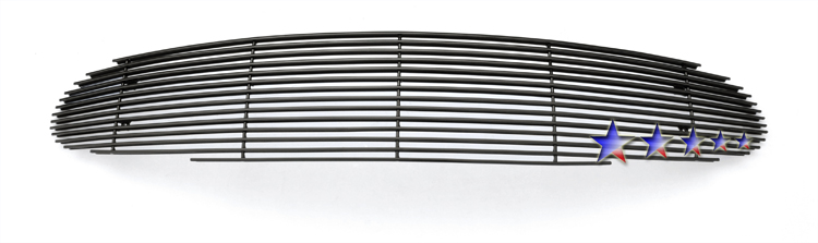 Chrysler Sebring Coupe  2001-2003 Black Powder Coated Main Upper Black Aluminum Billet Grille