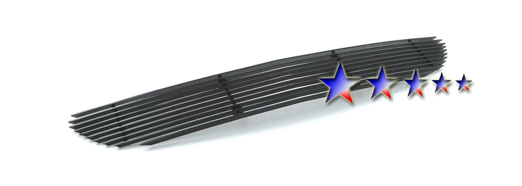 Chrysler Pacifica  2004-2006 Black Powder Coated Lower Bumper Black Aluminum Billet Grille