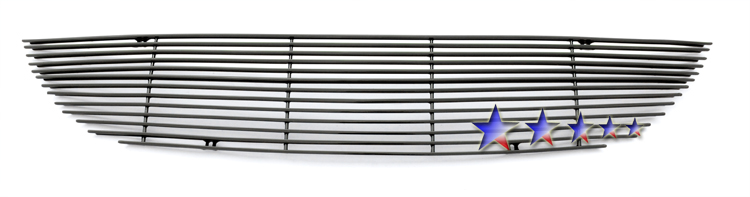 Chrysler Town And Country  2001-2004 Black Powder Coated Main Upper Black Aluminum Billet Grille