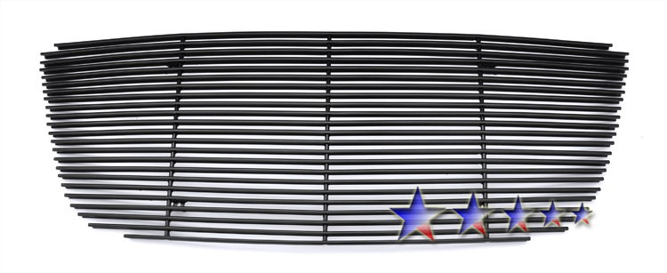 Chrysler 300C  2011-2012 Black Powder Coated Main Upper Black Aluminum Billet Grille