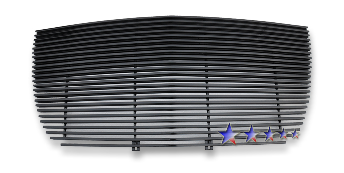 Chrysler 300C  2005-2010 Black Powder Coated Main Upper Black Aluminum Billet Grille