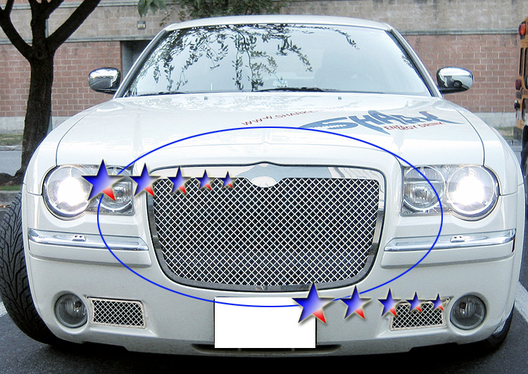 Chrysler 300C  2005-2010 Polished Main Upper Stainless Steel Billet Grille