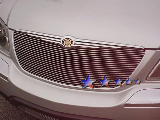 Chrysler Pacifica  2004-2006 Polished Main Upper Aluminum Billet Grille