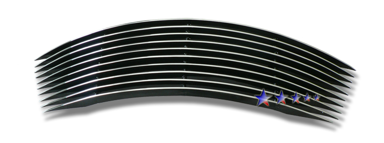Chrysler PT Cruiser  2000-2005 Black Powder Coated Lower Bumper Black Aluminum Billet Grille
