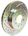 Chevy Cavalier 95-99 Ractive Cross Drilled and Slotted Front Rotors (Pair)