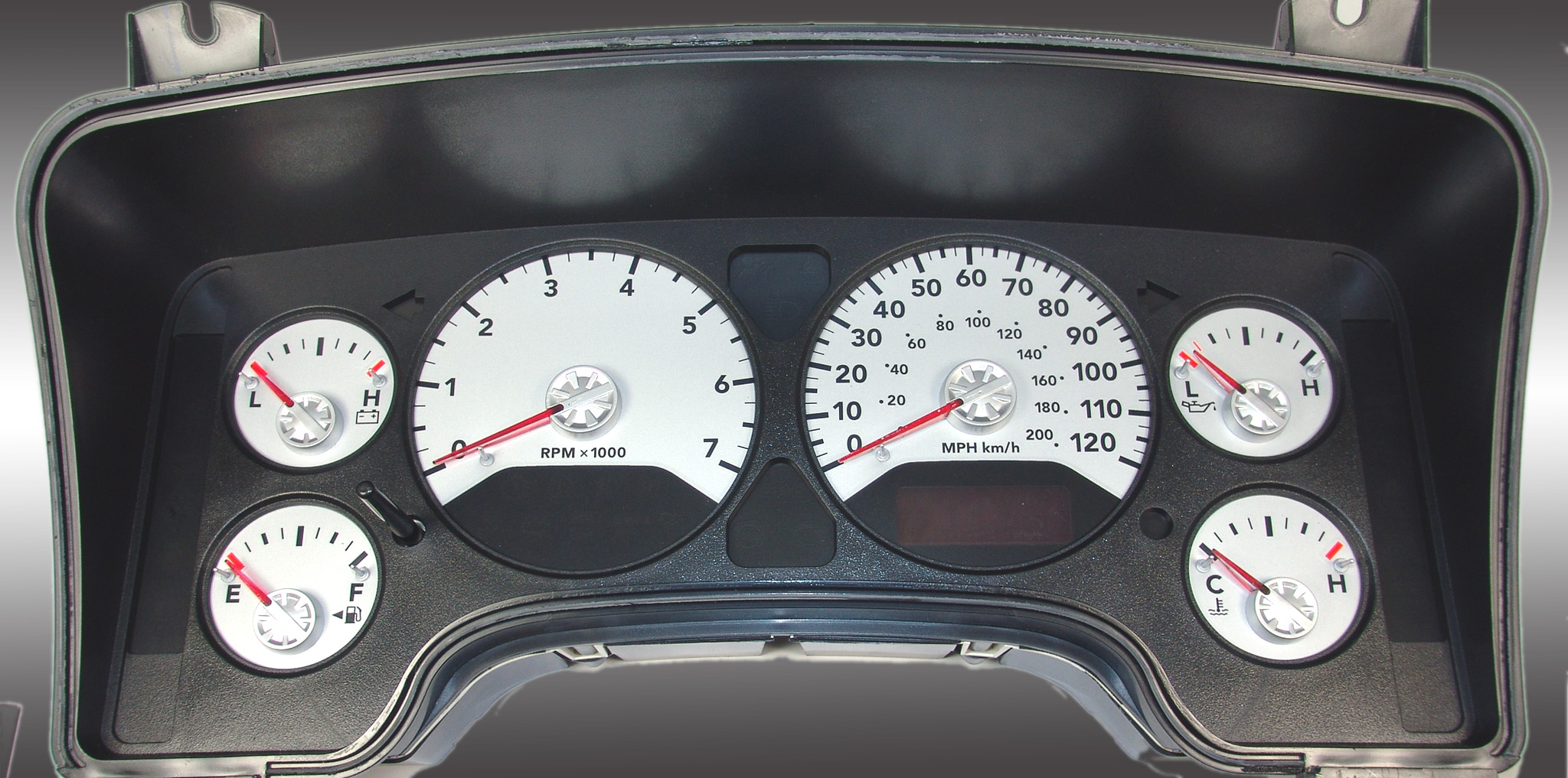 Dodge Ram 2006-2006 Gas W/Needle Stops Silver Performance Dash Gauges