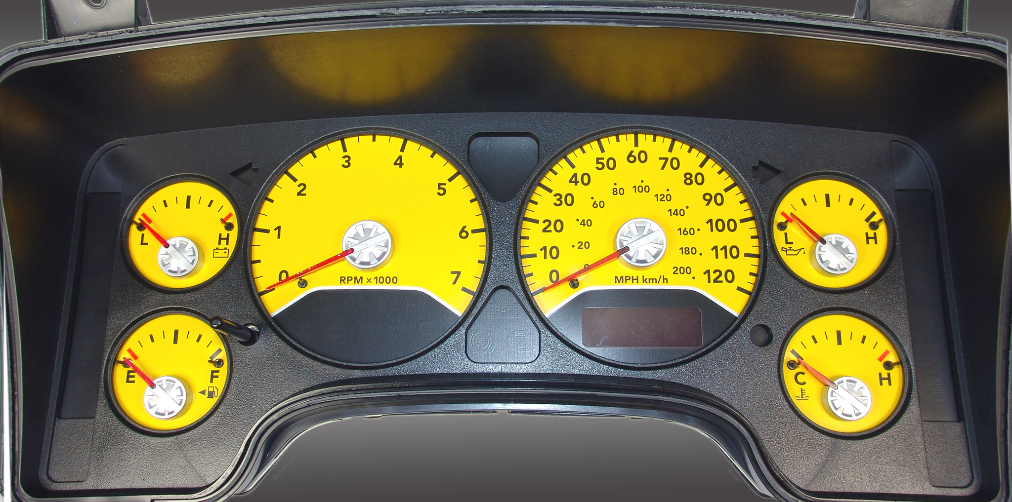 Dodge Ram 2006-2006 Gas W/Needle Stops Yellow Performance Dash Gauges