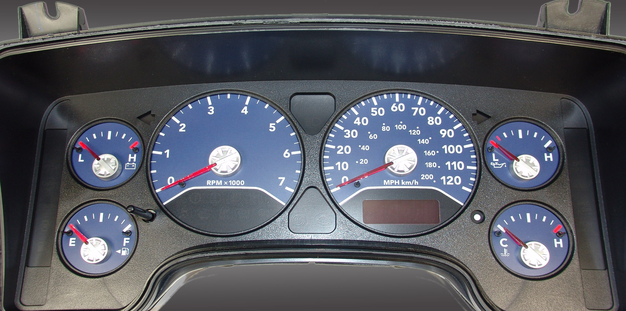 Dodge Ram 2006-2006 Gas W/Needle Stops Blue Performance Dash Gauges