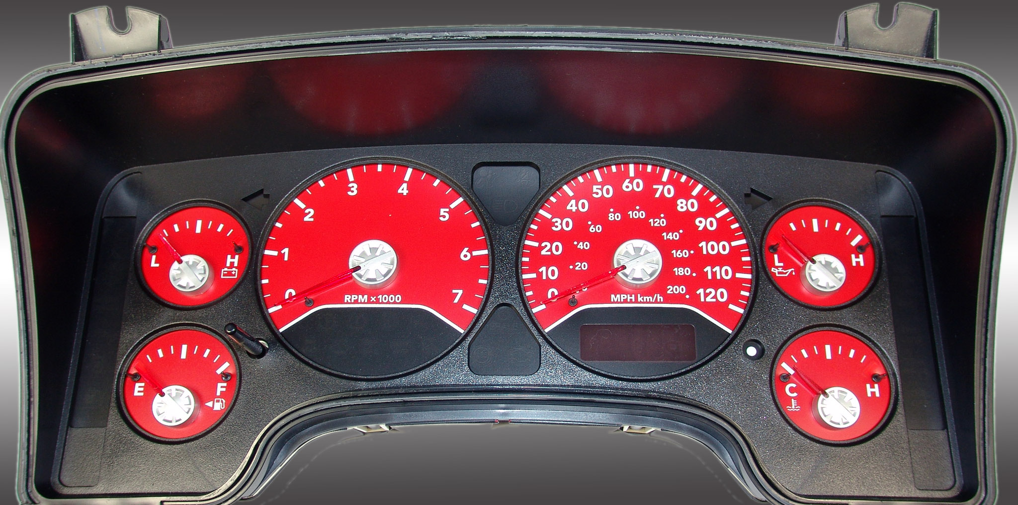 Dodge Ram 2006-2006 Gas W/Needle Stops Red Performance Dash Gauges