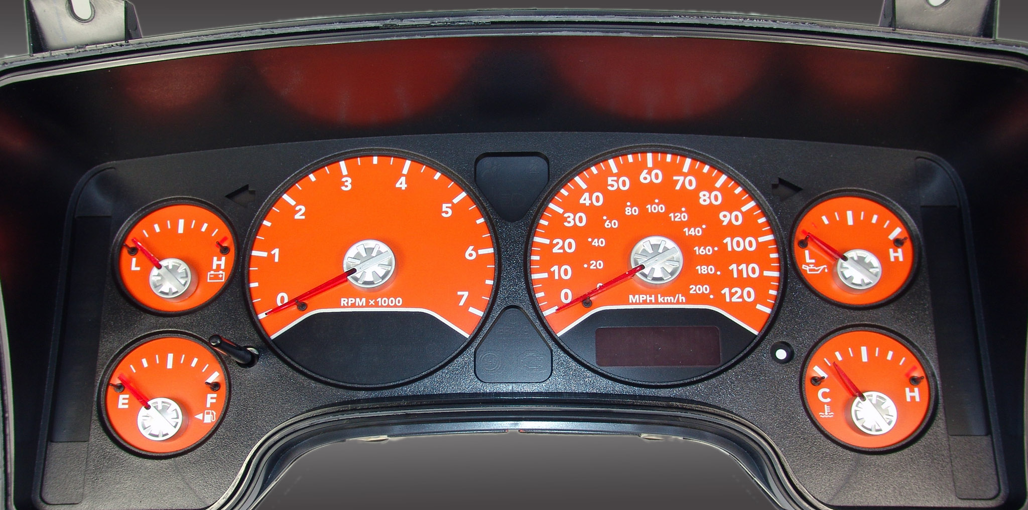 Dodge Ram 2006-2006 Gas W/Needle Stops Orange Performance Dash Gauges
