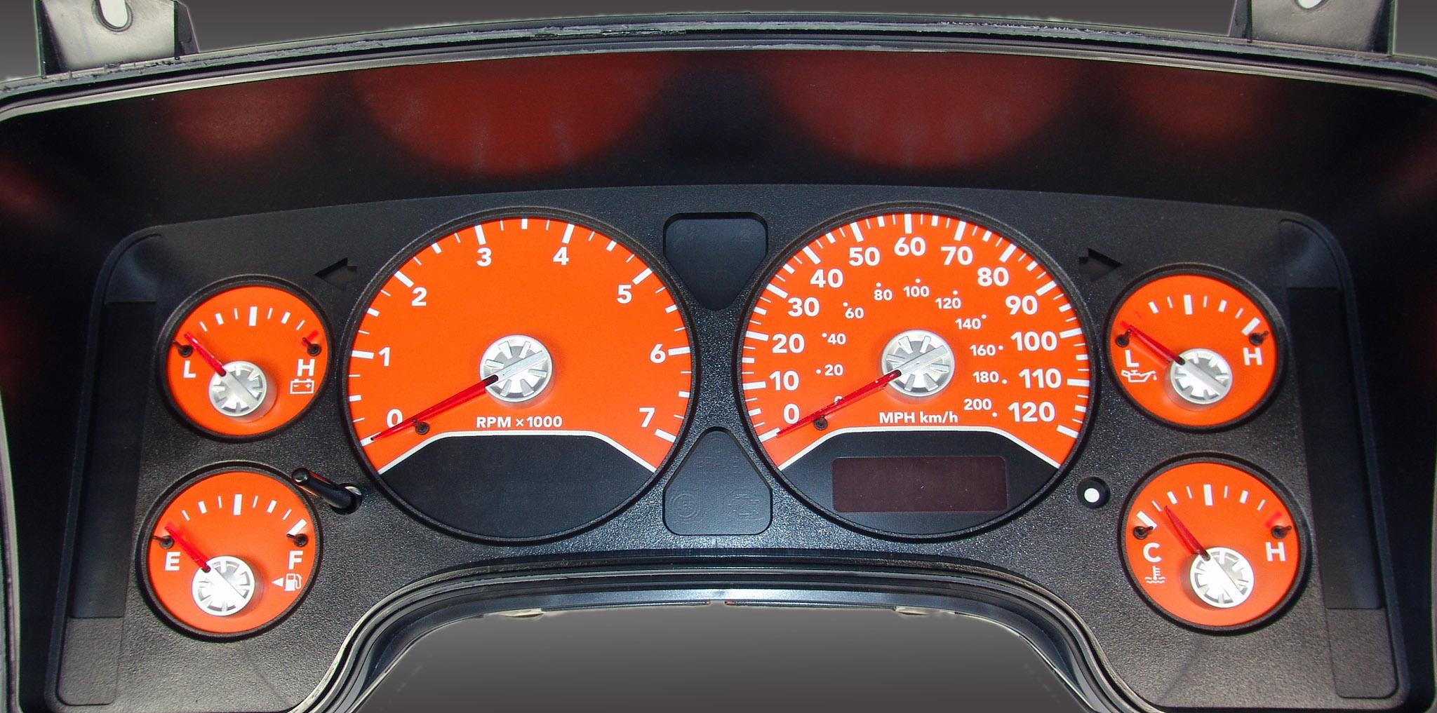 Dodge Ram 2006-2006 Gas W/Needle Stops Orange Performance Dash Gauges
