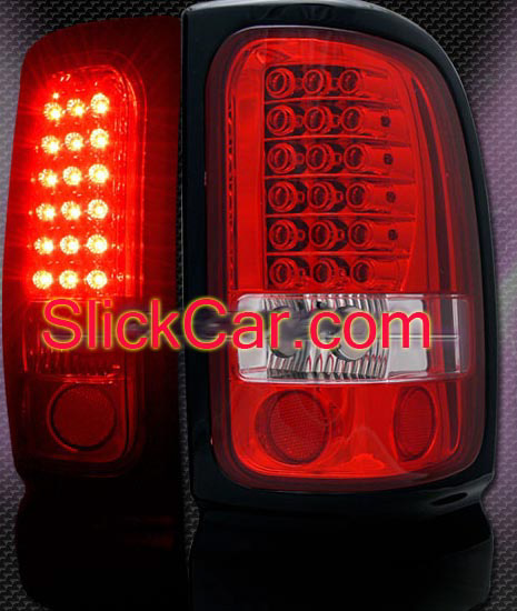 Dodge Ram 1994 - 2001 Red LED Tail Lights