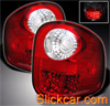 2001 Ford F150 Flareside  LED Tail Lights Red/Chrome