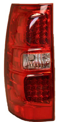 GMC Yukon  2007 - 2008 LED Tail Lights Red Clear Lens