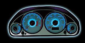 Ford F150 1999-2002 w/ Tachometer Reverse Glow Gauges