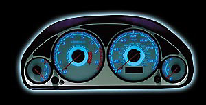 Chevy S-10 Auto 98-00 Reverse Glow Gauges