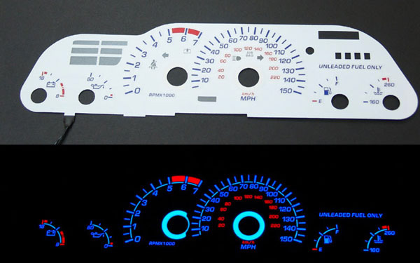 Chevrolet Camaro 1993-1996 Z28 Reverse Glow Gauges