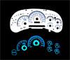 Chevrolet Silverado 2003-2006 Reverse Glow Gauges