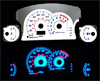 2002 Mitsubishi Eclipse Automatic  Reverse Glow Gauges