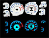 1995 Mitsubishi 3000GT  VR4 Turbo Reverse Glow Gauges