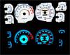 1992 Mitsubishi 3000GT  VR4 Turbo Reverse Glow Gauges
